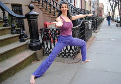 Jennifer Brilliant at her Park Slope yoga studio