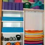 yoga studio storage closet