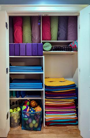 Yoga props closet