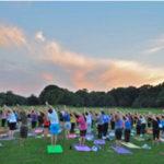 Yoga workshop in Prospect Park