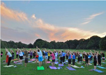 Yoga workshop in Prospect Park