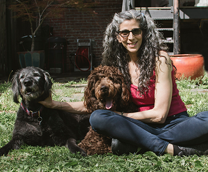 Jennifer Brilliant with dogs