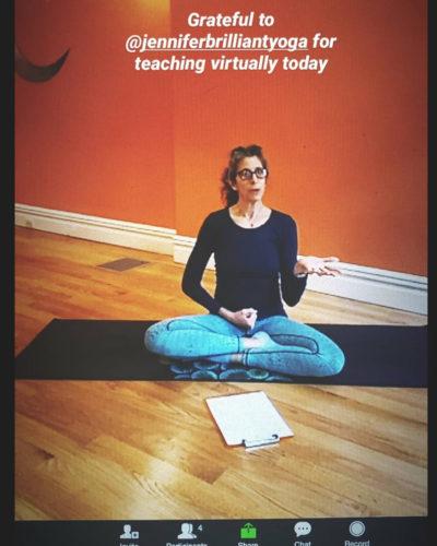 Zoom virtual yoga classes in Park Slope