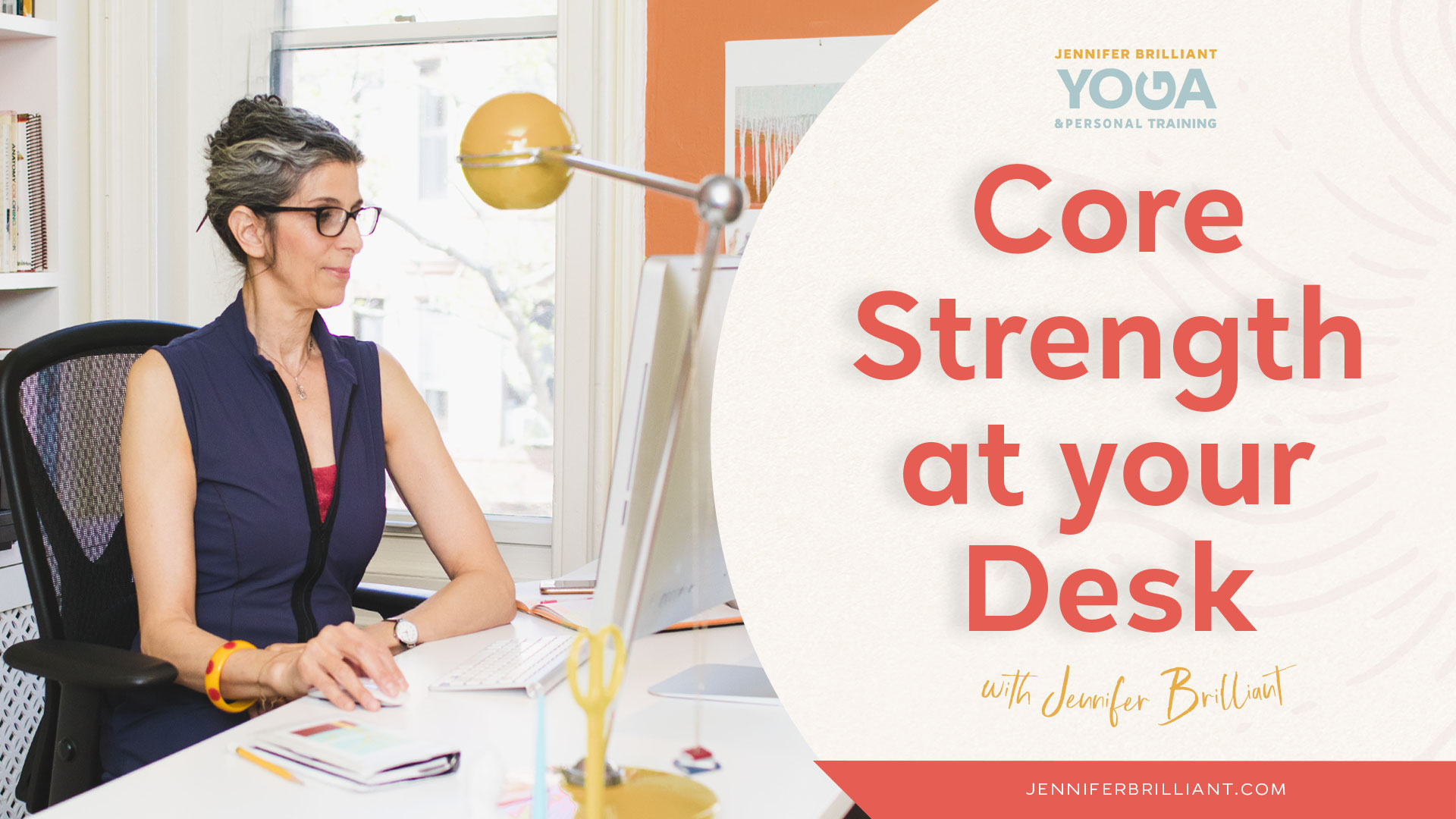 On-Demand Video Yoga Core Strength At Your Desk